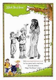 Small Picture Magic Tree House Colouring Activity Scholastic Book Club Magic