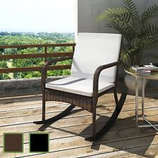 oakland living mississippi patio rocking chair. outdoor wicker rattan rocking chair patio furniture garden poolside brown/black oakland living mississippi