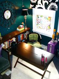 eclectic design home office. eclectic home office design ideas decorating deep wall color enhances this