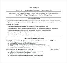 Cna Experience Resume Entry Level It Resume Templates Template ...