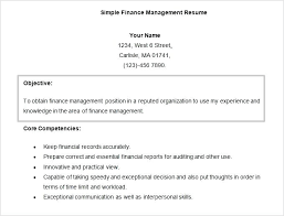 Finance Objective Resume Free Doc Finance Management Resume Template ...