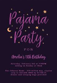 Free 13th Birthday Invitations Sleepover Party Invitation Templates Free Greetings Island