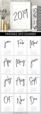 2019 Calendar Printable By Month 110 Best 2019 Printable Calendars Images In 2019