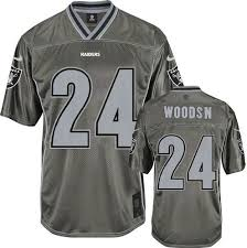 Woodson Jersey Raiders Charles Oakland Road Youth White 24 Nfl Game
