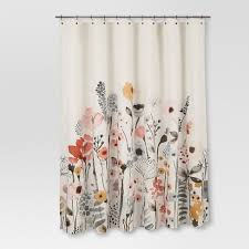 Shower Curtain Floral Wave Threshold Target