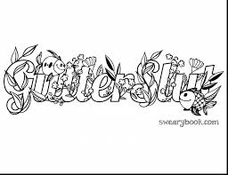 Brilliant Adult Swear Words Coloring Book Pages With Word And