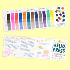Black Colour Chart Paper Helio Colour Chart Helio Press