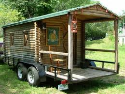 Small Picture Log Cabin on Wheels with Covered Porch For Sale 3500 Tiny