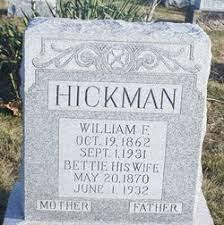 Bettie Finch Hickman (1870-1932) - Find A Grave Memorial