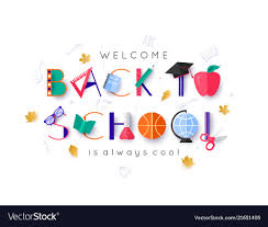 Welcome Back Graphics White Welcome Back To School Banner With Colorful