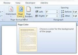 Small Picture How to Change Background Color in Word 2010 Solve Your Tech
