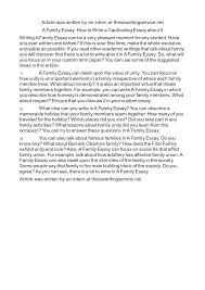 analysis essay about family