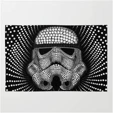 unique designer star wars stormtrooper area throw rug