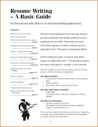 How To Write A It Resume How To Write Basic Resume pixtasyco 12