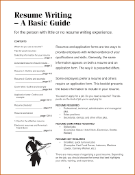 How To Do A Simple Resume How To Write Basic Resume Pixtasyco 5