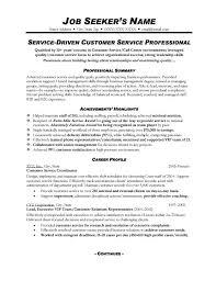Resume Summary Examples For Customer Service Luxury Career Resume