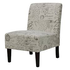 com cortesi home chicco armless accent chair script kitchen dining