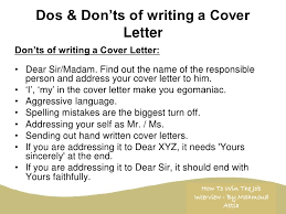 Dos And Don Ts Of Cover Letters Awesome Collect Nice Cover Letter Dos And Don Ts Sample Resume