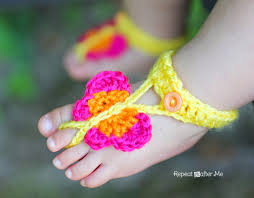 Free Crochet Patterns For Baby Sandals Simple Inspiration Ideas