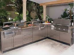 Bbq Outdoor Kitchen Kits Magnificent Grey Stone Grill Island Amazing Outdoor Kitchens With