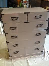 campaign tansu dresser makeover valspar t brush spray paint