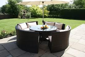best garden furniture round table round rattan garden table and chairs starrkingschool
