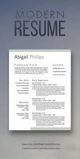 Modern Resume Etsy Resume Tips Modern Resume For Sale On Etsy Download Today