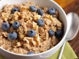 blueberry and walnut oatmeal