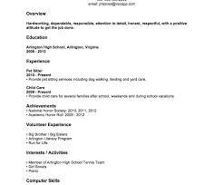 No Job Experience Resume Examples Job Resume Sample Forlege Students Summer Student With No Experience 16