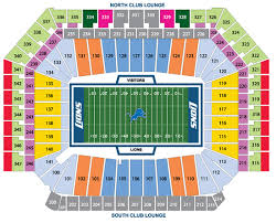 Detroit Lions Interactive Seating Chart Detroit Lions
