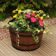 wood flower pot ideas unique 25 best wooden barrel ideas on of wood flower pot