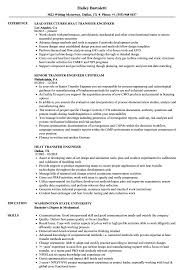 Transfer Resume Sample Transfer Engineer Resume Samples Velvet Jobs 5