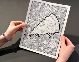 Small Picture PIZZA Coloring Page Coloring Book Pages Printable Adult