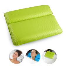 bath pillow spa bathtub pillow for head and neck relax with strong suction cups pvc