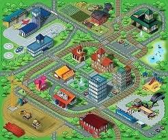 farm play mat floor rug kid city life town airport farm play mat carpet roads travel