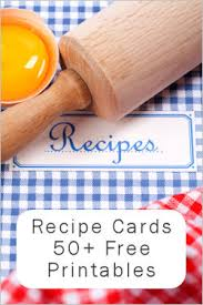 55+ Free Printable Recipe Cards: {A Nice Collection} : Tipnut.com