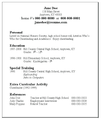 College Admission Resume Template Best High School Resume Template For College High School Students Resume