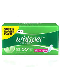 Whisper Ultra Clean Xl Wings 30 Pads At Menstrupedia Store