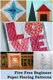 Paper Piecing Patterns Free Impressive 48 FREE Paper Piecing Patterns For Beginners On Craftsy