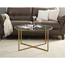 round glass top coffee table 36 inch