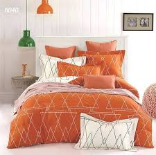 placeholder orange white geometric drawing bedclothes bedding set queen king size bed sets warm color and pink