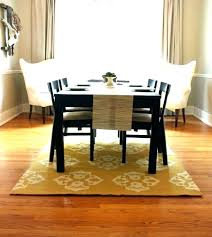 size of rug for dining room dining room rug size rug size under round dining table