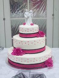 bb cakes hot pink and black wedding cake