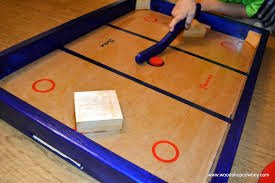 picture of diy knock hockey game