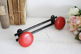 Atomic Coat Rack This is a vintagemid century modern atomic coat rack with 100 red 98