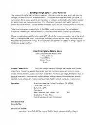 Gallery Of High School Resume Examples For College Admission