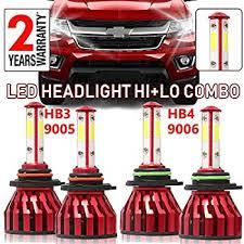 Amazon Com 9005 Hb3 H10 And 9006 Hb4 Led Headlight Bulbs