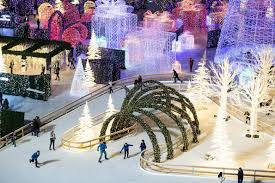 Enchant Christmas With Its Light Maze And Skating Trail