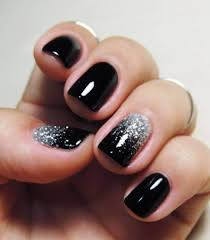 44 old hollywood glamor silver glitter and black