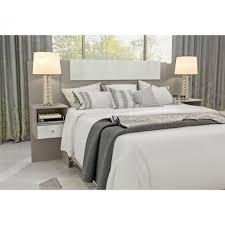 Se você está desenvolvendo o projeto do seu quarto e está buscando inspirações de cabeceira de cama, leia então o nosso livro de ideias com uma super seleção com 28 modelos de. Cabeceira Com Criado Visao Moveis Cama Casal Queen Taupe